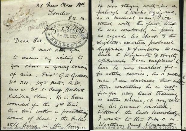 Gideon Letter 1