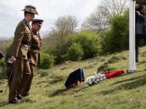 Lieutenant Colonel Ben Passmore, Australian Army UK Liaison Officer and Colonel Andrew Dawes, Commander South West paying tribute to the fallen by laying a wreath at the base of the flag pole. An ANZAC day service was held today in Wiltshire to commemorate the sacrifice made by the Australian Imperial Forces and remember their presence here in the County. The occasion also marked the formal opening of the restored chalk map of Australia. Guests included Mrs Sarah Troughton, the Lord Lieutenant of Wiltshire and Mr Matt Anderson, the Deputy Australian High Commissioner, Colonel Andrew Dawes, Commander South West and Lieutenant Colonel Ben Passmore, Australian Army UK Liaison Officer. We are also immensely privileged to be joined by Mrs Jill Young Who travelled from Australia to lay a wreath in memory of her father Albert Haslet, a Bombardier with the 12th Artillery Brigade, AIF, stayed at Hurdcott Camp between April and June 1918 recovering from wounds.