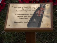 A reflection of the Australian flag in the new plaque, which was unveiled by Mr Matt Anderson, the Deputy Australian High Commissioner and Mrs Jill Young Who travelled from Australia to declare the map of Australia officially open. An ANZAC day service was held today in Wiltshire to commemorate the sacrifice made by the Australian Imperial Forces and remember their presence here in the County. The occasion also marked the formal opening of the restored chalk map of Australia. Guests included Mrs Sarah Troughton, the Lord Lieutenant of Wiltshire and Mr Matt Anderson, the Deputy Australian High Commissioner, Colonel Andrew Dawes, Commander South West and Lieutenant Colonel Ben Passmore, Australian Army UK Liaison Officer. We are also immensely privileged to be joined by Mrs Jill Young Who travelled from Australia to lay a wreath in memory of her father Albert Haslet, a Bombardier with the 12th Artillery Brigade, AIF, stayed at Hurdcott Camp between April and June 1918 recovering from wounds.
