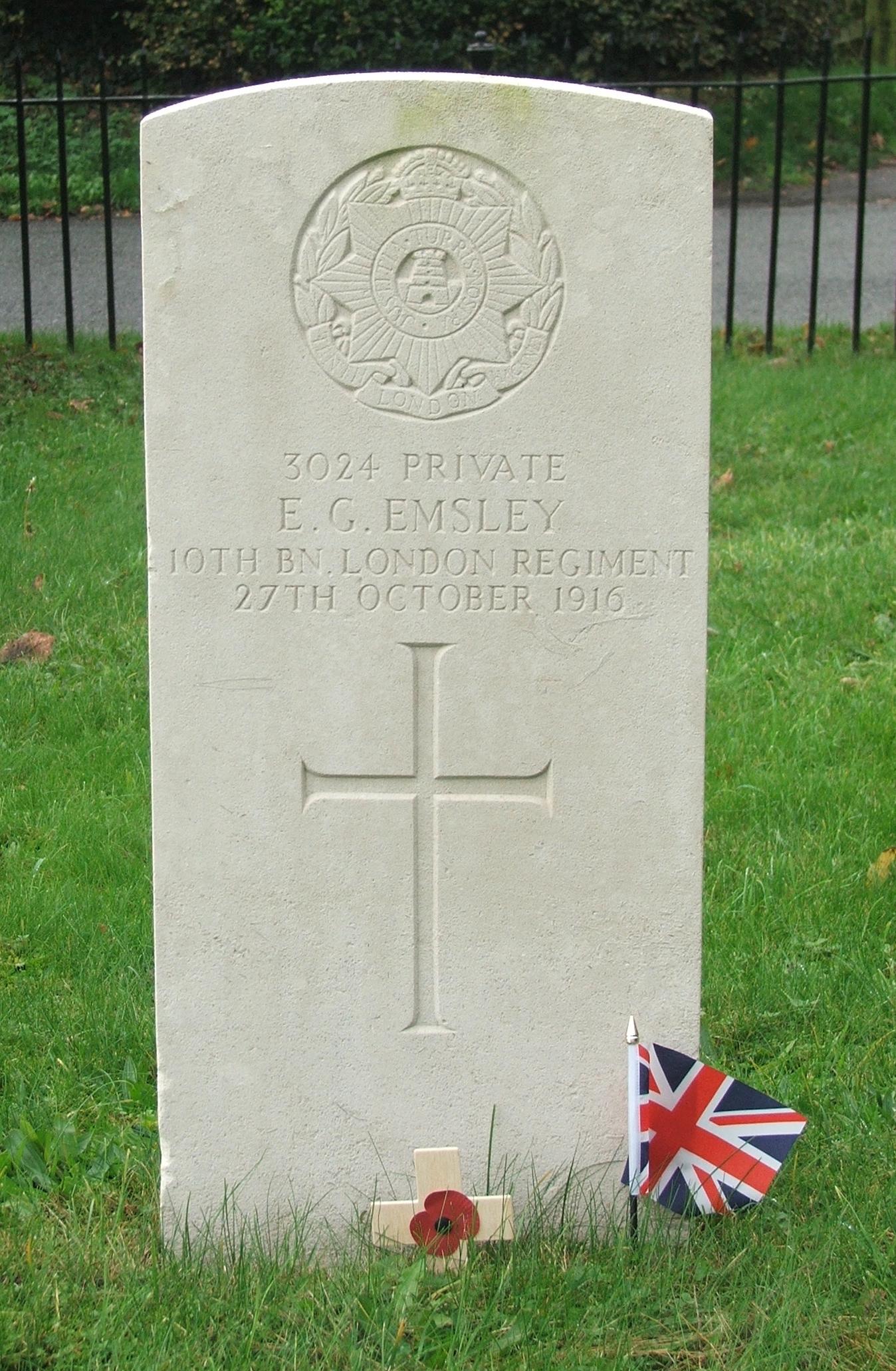 Edward Emsley - gravestone