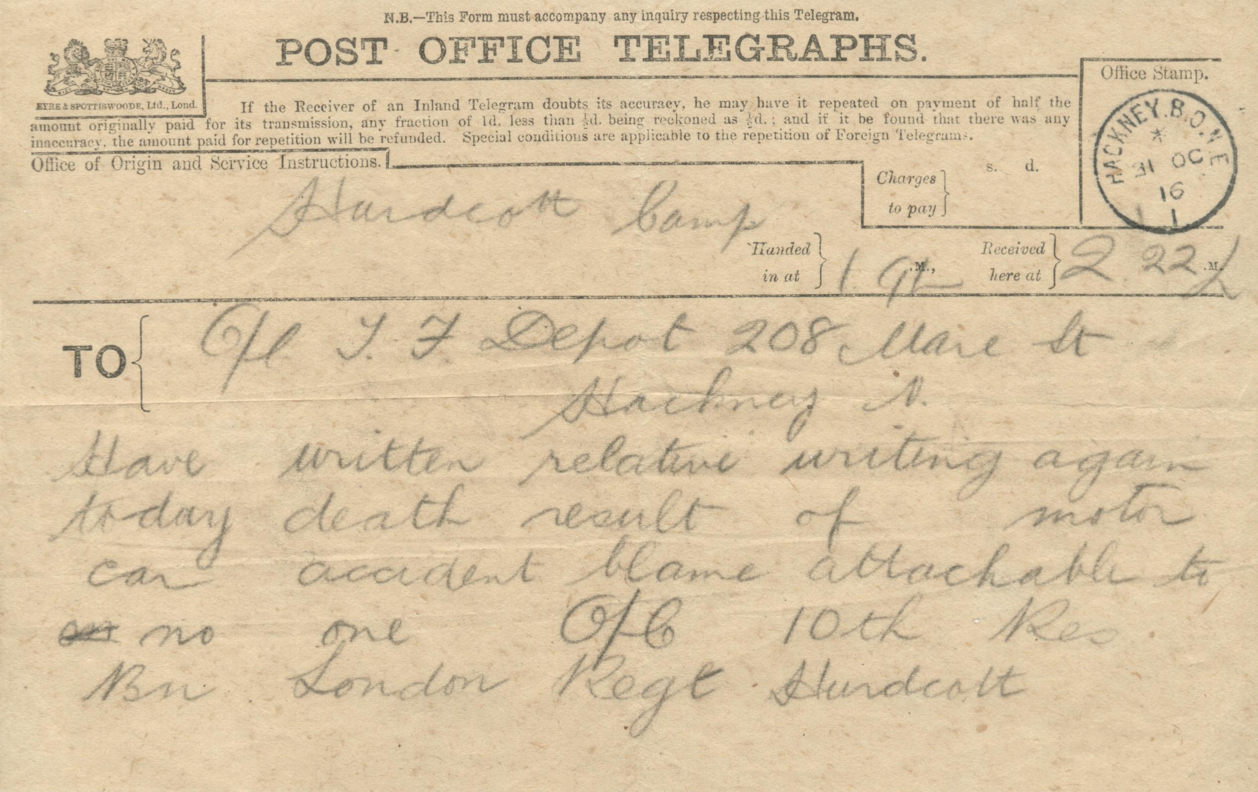 Edward Emsley - telegram
